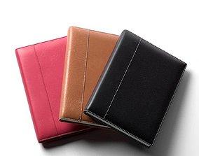 Leather Notebook Set 3D model