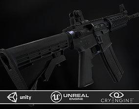 3D asset rigged M4A1 RIS High detail