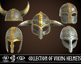 3D Collection of Viking Helmets