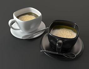 Coffee Cups spoon 3D model