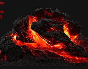 3D model VR / AR ready Lava Rock
