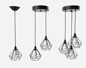 3D Trybo Wire Pendant Diamond