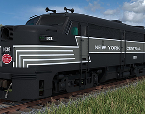 FA-1 Diesel Locomotive with B-unit 3D model