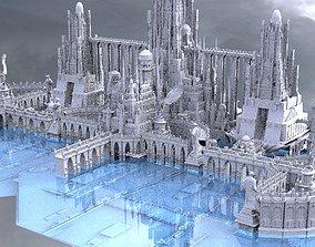 Final Fantast High fantasy City ocean 3 3D