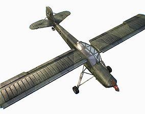 3D asset German liaison aircraft Fieseler Fi 156 Storch