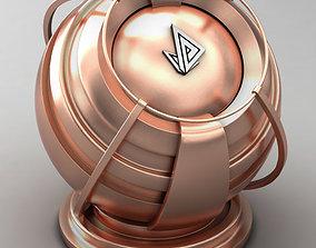 VRAY SHADER---METAL---Copper 3D model