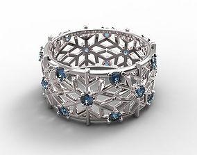 Gold ring Snowflake 3D print model