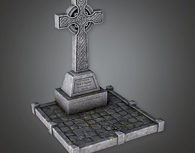 Grave Site Cemetery 1 CEM - PBR Game Ready 3D asset