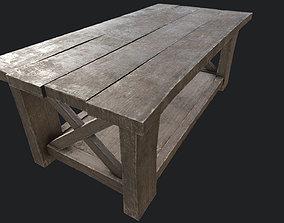 3D model Wooden Table 2 PBR