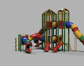 3D model rigged Playground