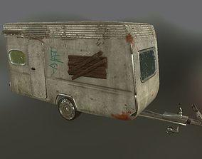Old used caravan 3D model