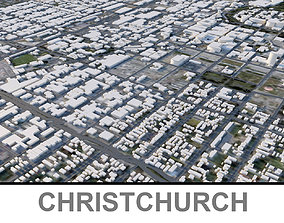 Christchurch City in the South Island 3D asset