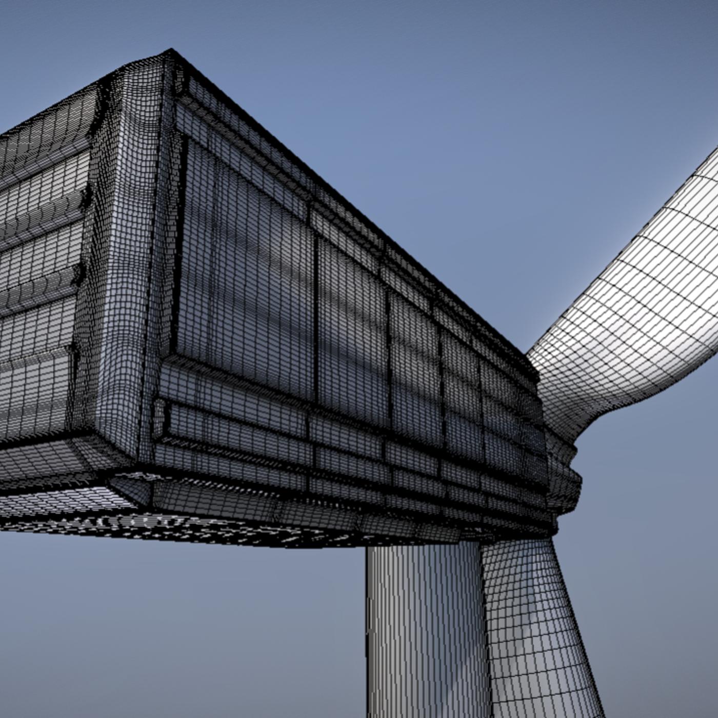 Animated - Wind Turbin 2 - High-Poly Version