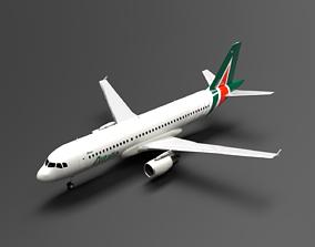 Airbus A320 Alitalia Livery 3D model