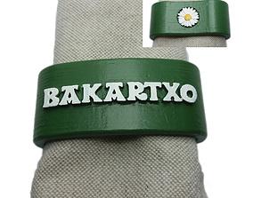 3D print model BAKARTXO Napkin Ring with daisy
