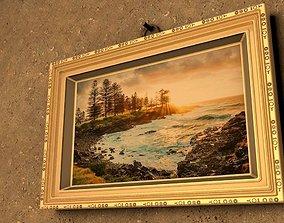 Ornate picture frame 3D asset
