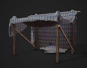 3D asset Medieval Style Tent