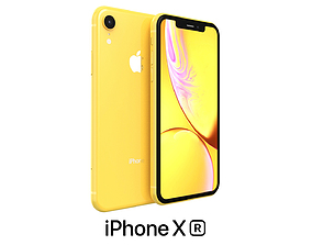 3D Apple iPhone XR Yellow