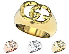 Gucci GG ring 3d printable model Fashion jewelry stl 3dm