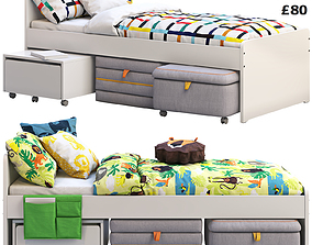 Ikea Slakt bed 2 options 3D model