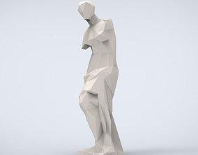 Printable Venus de Milo Lowpoly Style