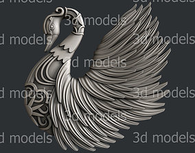3d STL models for CNC router or 3d printer swan