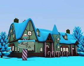 North Pole Santas Workshop Christmas Village 3D model