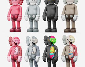 collectible KAWS Flayed companion 3D