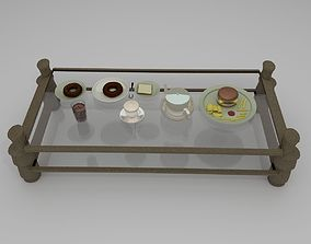 3D TeaSet Snacks and Table