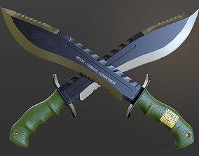 USMC Marine Kukri Knife 3D model low-poly
