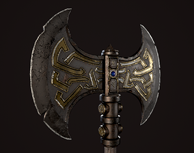 Dwarf Battle Axe 3D model