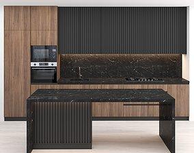 Modern kitchen with island 38 3D