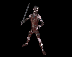 3D asset Warrior V1