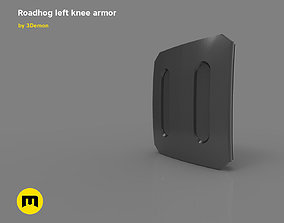 Roadhog left knee armor 3D printable model