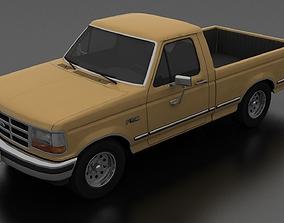 3D model Ford F-150 Pickup 1992 - Regular Cab Short Box