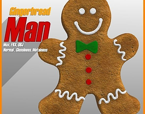 Gingerbread Man 3D model realtime holiday