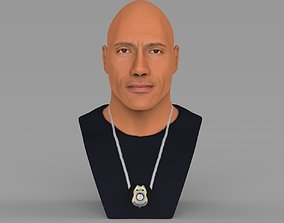 Dwayne Rock Johnson bust ready for full color 3D 1