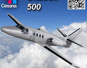 Cessna 500 Citation I 3D asset