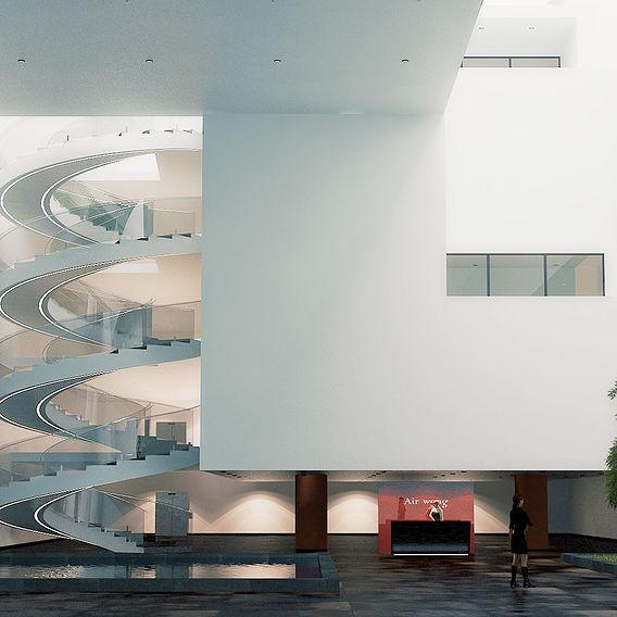 Interior scene - Bogota Medical center, La Calleja.