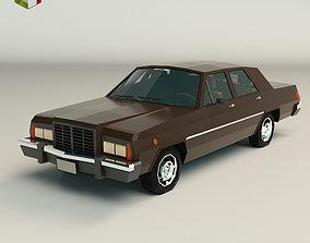 Low Poly Sedan Car 04 3D model