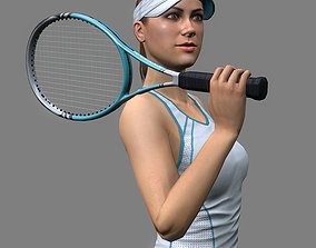 Tennis Player Girl 3D asset