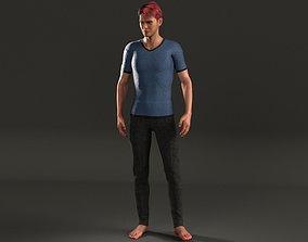 FREE Male Basic Shirt and Slacks - Marvelous 3D model