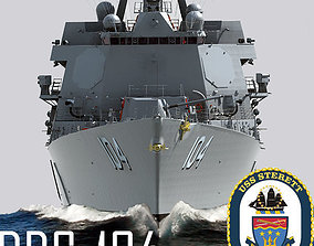 3D Arleigh Burke Class Destroyer Flight IIA DDG-104