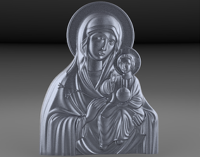 3D print model the virgin mary