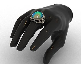 Diamond and Piruz Ring 3D print model 3D print model