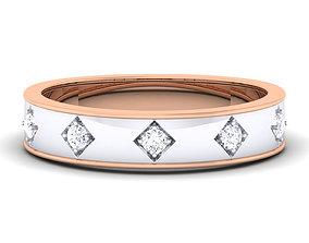 Wedding band engagement ring3 3D print model