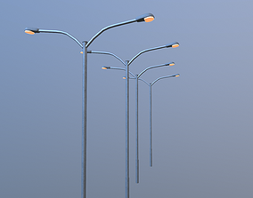 Low poly Streetlight Model VR / AR ready