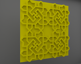 Wall Panel 3D model realtime