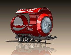 Coca Cola Semi Trailer - Coca Cola Booth 3D