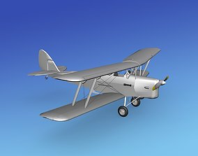 Dehavilland DH82 Tiger Moth VBM 3D model